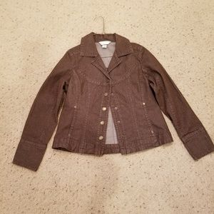3 for $10 SALE. Chr. & Banks brown denim jacket
